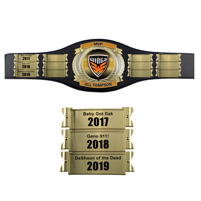 Perpetual Champion Award Belt with Plates