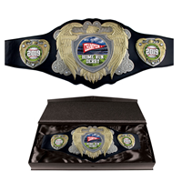 Bright Gold Legion Award Belt with Black Leather