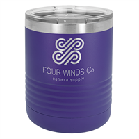 10 oz. Purple Stainless Steel Insulated Tumbler