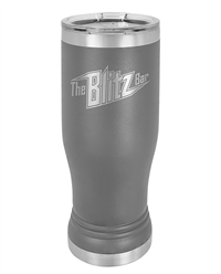 Dark Gray Stainless Steel Pilsner Tumbler