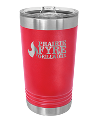 16 oz. Red Stainless Steel Pint Tumbler
