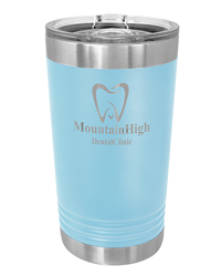 16 oz. Light Blue Stainless Steel Pint Tumbler