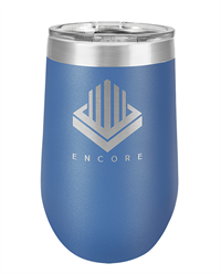 16 oz. R. Blue Stainless Steel Wine Tumbler