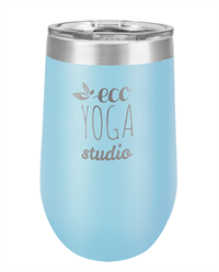 16 oz. L. Blue Stainless Steel Wine Tumbler