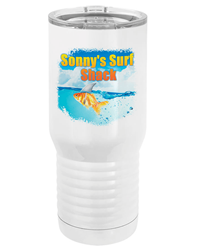 20 oz. Tall Sublimated White Steel Tumbler
