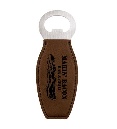 Dark Brown Bottle Opener with Magnet