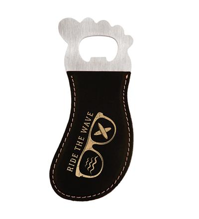 Black and Gold Foot Shaped Bottle Opener