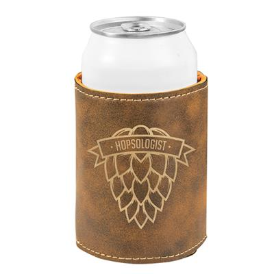 Rustic Beverage Holder with Gold Engraving