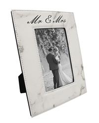 Marble Finish Picture Frame with Black Engraving