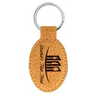 Cork Keychain with Black Engraving