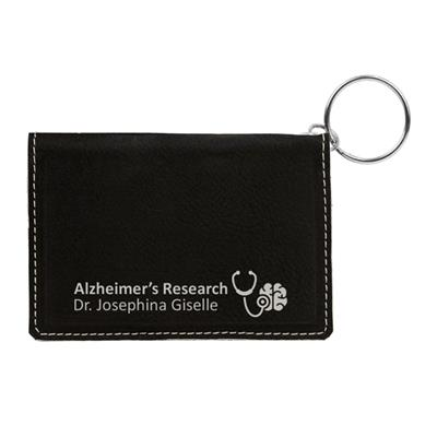Black ID Holder with Silver Engraving