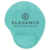 Teal Mouse Pad with Black Engraving