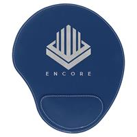 Blue Mouse Pad with Silver Engraving