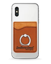 Rawhide Phone Wallet with Silver Ring