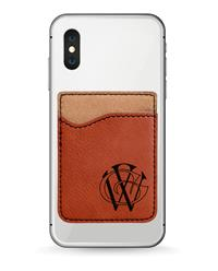 Rawhide Phone Wallet with Black Engraving