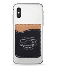 Black Phone Wallet with Silver Engraving