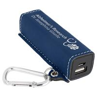 Blue 2200mAh Power Bank with Silver Engraving