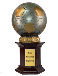 Column Soccer Ball Statue Trophy
