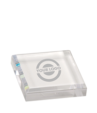 Square Acrylic Paperweight - Clear