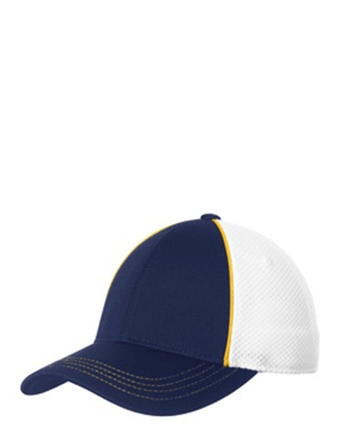 Sport-Tek Piped Mesh Back Cap