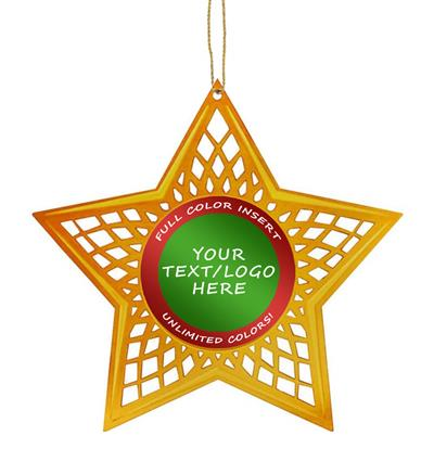 Custom Insert Holiday Star Ornament