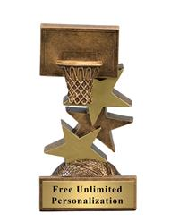 Star Step Basketball Trophy