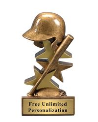 Star Step Baseball Trophy