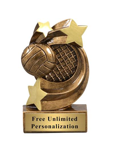 Star Swirl Volleyball Trophy