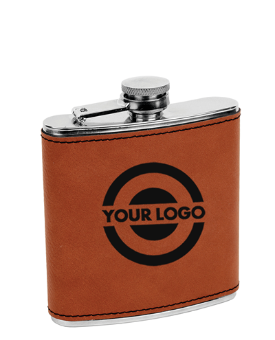 Personalized Leatherette Flask