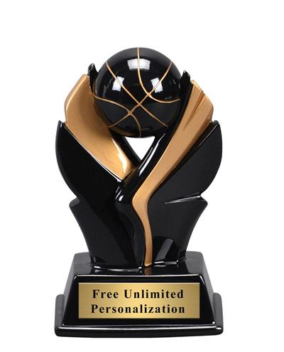 Black and Gold Wing Basketball Trophy