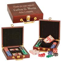Personalized Wooden Poker Set