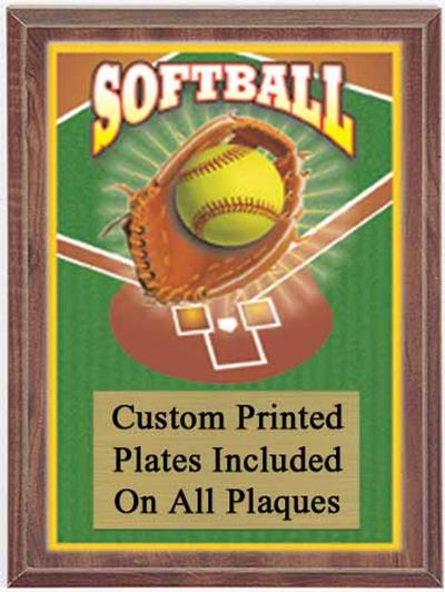 Color Softball Plaque