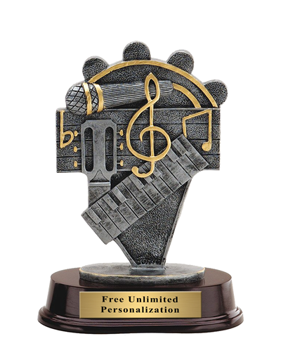 Pewter Finish Music Trophy