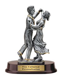 Pewter Finish Ballroom Dance Trophy