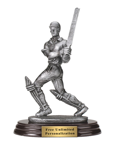 Pewter Finish Cricket Trophy