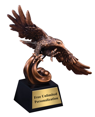 Bronze Cast Metal Finish Soaring Eagle Award