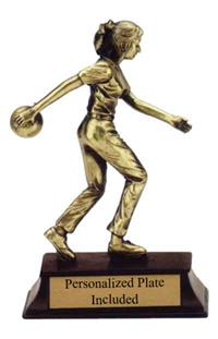 Sunburst Resin Bowling Trophy - Female