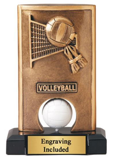 Spin Resin Volleyball Trophy