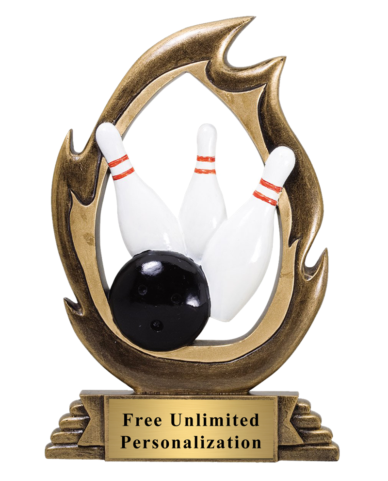 Flame Bowling Trophy