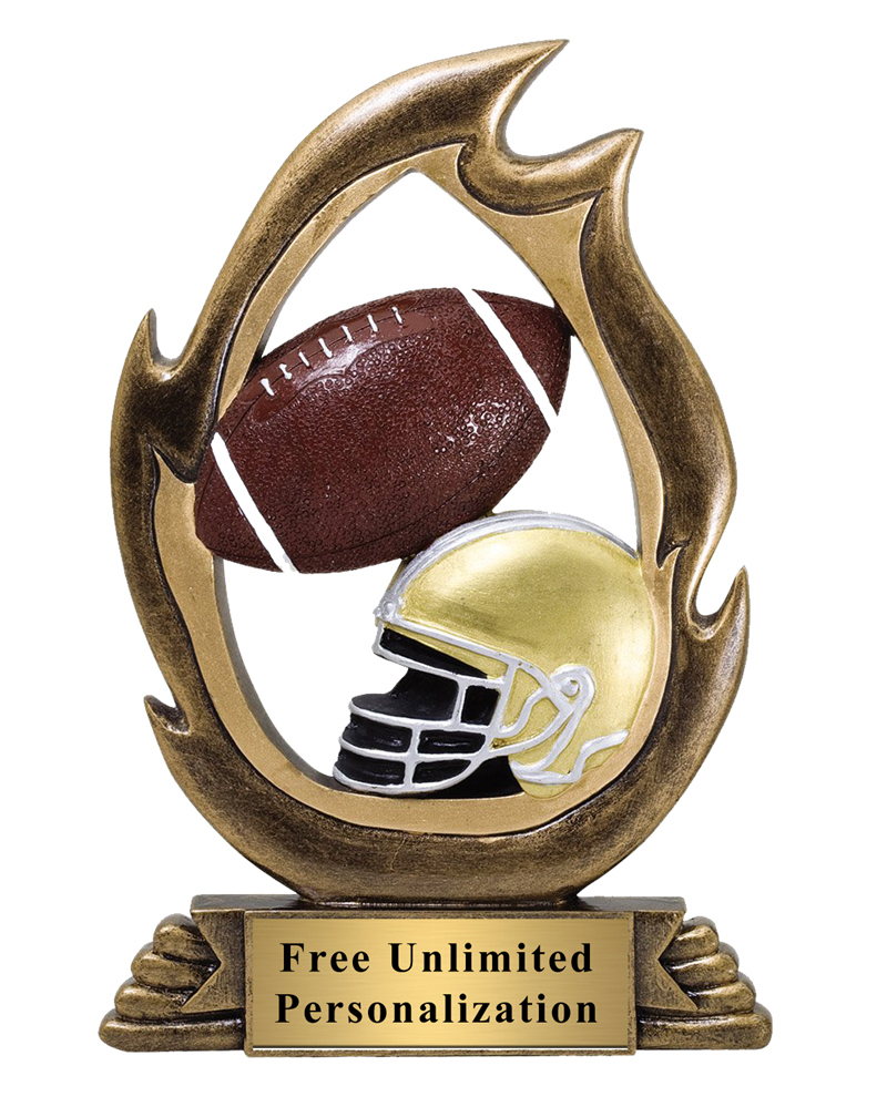 Flame Football Trophy