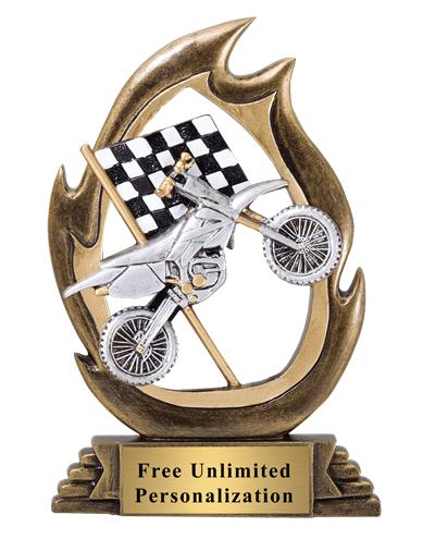 Flame Motorcycle Trophy