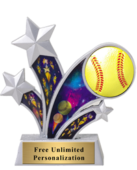 Star Motion Softball Trophy