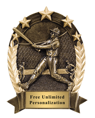 Five Star Oval Baseball Award - Male