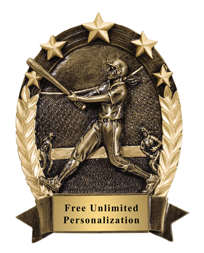 Five Star Oval Baseball Award - Female