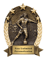 Five Star Oval Soccer Award - Female