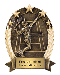 Five Star Oval Tennis Award - Male