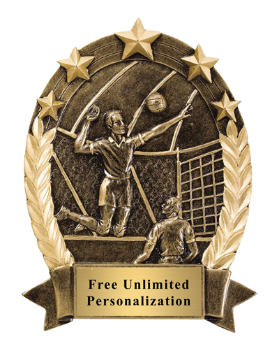 Five Star Oval Volleyball Award - Male