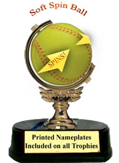 Sponge Spinner Softball Trophy