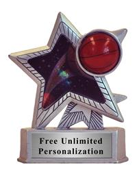 Silver Motion Star Basketball Trophy