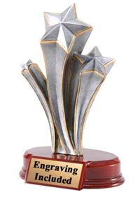 Pewter Resin Star Trophy